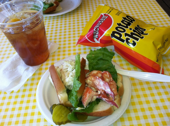 Lobster and crab rolls at Geno's