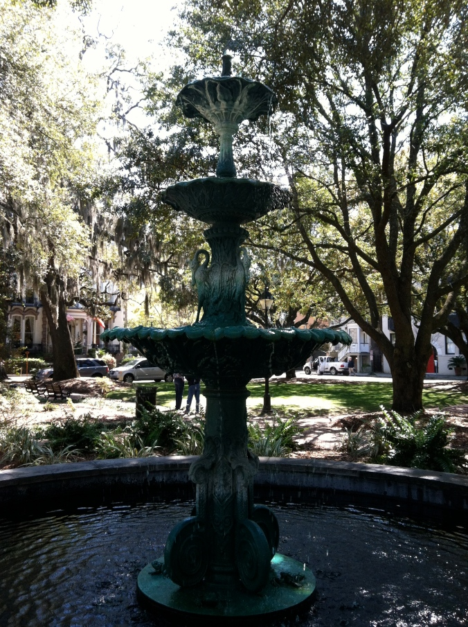 Fountain in LaFayette Square (by the Cathedral of St. John the Baptist)
