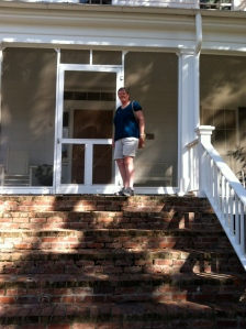 On the front steps of Andalusia