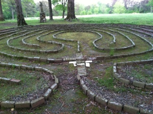 The entrance to the labyrinth