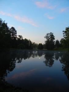 Sunrise on the lake at Sacred Heart, Cullman