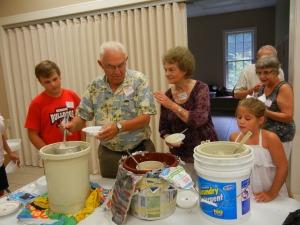 Family reunion ice cream time