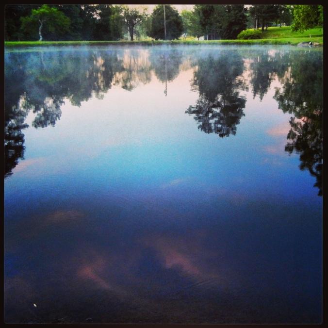 Lake at Sacred Heart, Cullman, AL, sunrise