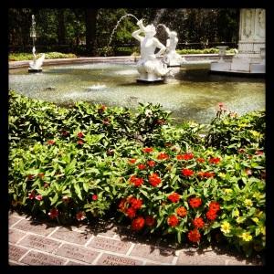 Forsyth Park Fountain, Savannah, on a July morning