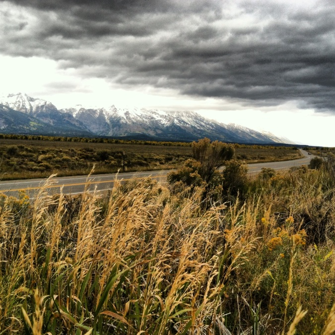Last view of the Tetons before the drive home