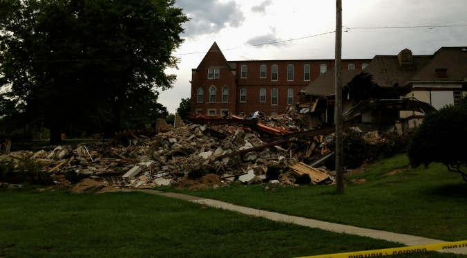 Mary Hall is gone and Joseph Hall is rubble.  But now Otillia Hall has a nice view of the lake.