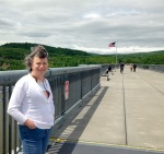 Karla on the Walkway Over the Hudson in Poughkeepsie