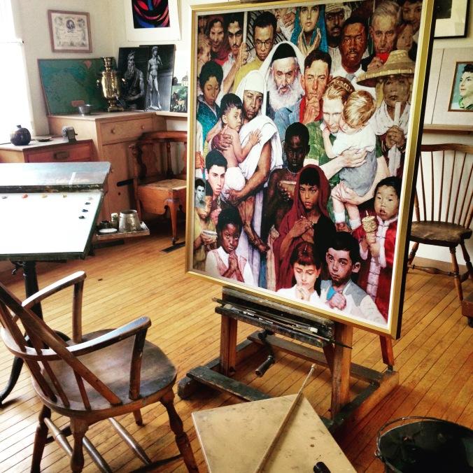 Rockwell's studio